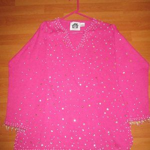 NWOT Storybook Knits Large Pink Pullover Sweater
